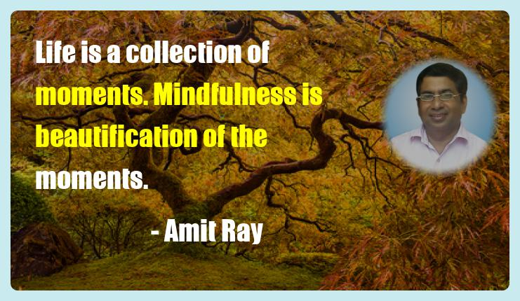 Life is a collection of moments. Stress Resilience Mindfulness Quote