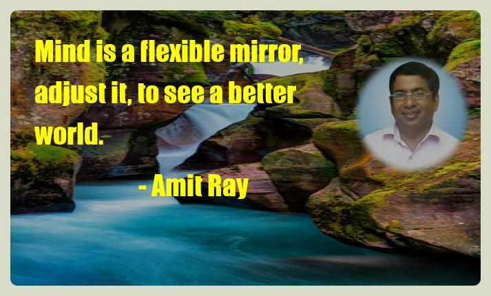 Mind is a flexible mirror, adjust it, to see a better world. - Amit Ray Mindfulness and Creativity Quote